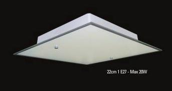 Plafon Vidro Antares p/ 1 lamp - Embutir ou Sobrepor  - Giamar