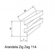 Arandela Interna Zig Zag 114 C/ 2 Led G9 7w BQ