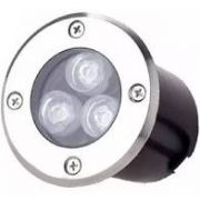 Balizador Led 3W  Embutir no Solo INOX LED