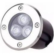 Balizador Led 3W  Embutir no Solo INOX LED