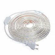Fita LED 127v / 220v 5050 6mm- Bobina Com 10 Metros - NÃO NECESSITA DE FONTE