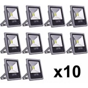 KIT 10X Refletor Led 10w BF IP66