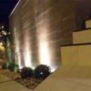 Luminaria Jardim Embutir no solo Par38 LS210G PT C/ Grade