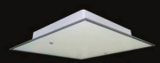 Plafon Vidro Jateado Fosco UPZ Toledo Embutir Quadrado P/ 1 Lampada
