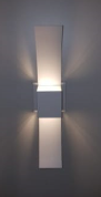 Arandela Externa Box Curva 151 Branca  - Giamar