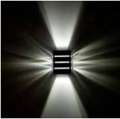 Arandela Light Facho Duplo 25500-01 - 9 Aletas C/ Led 5W BQ  - Giamar