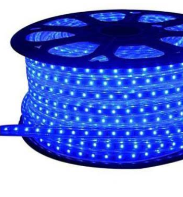 Fita LED AZUL 127v 5050 6mm  Kit C/ 5 Metros    - Giamar