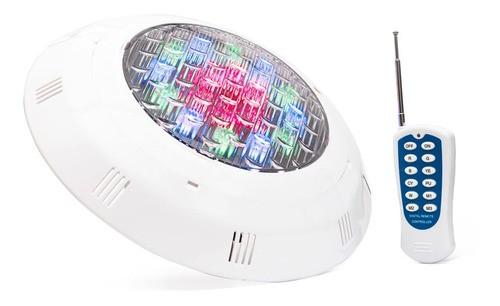 Kit Luminária Led Piscina Blindado Ip68 18w RGB + Controle + Fonte