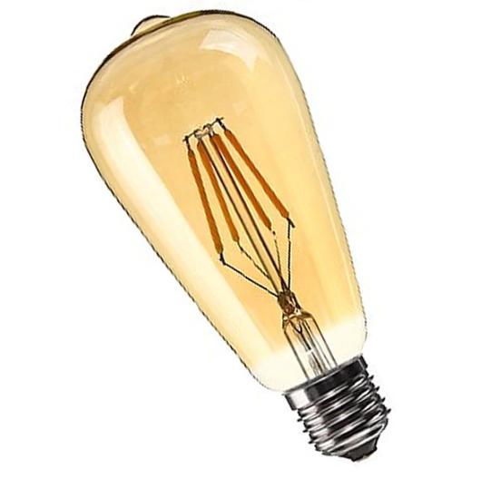 Lâmpada Filamento Carbono ST64 8W   - Giamar