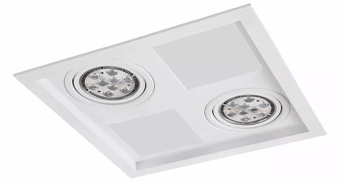 Luminaria Embutir Quadrada Recuada Sistema Click   - Giamar