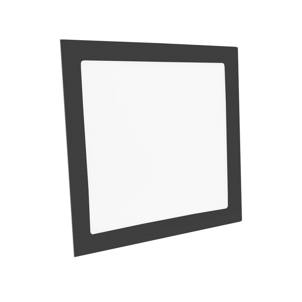Luminaria Led Embutir quadrada 18w 6000K Preta  - Giamar