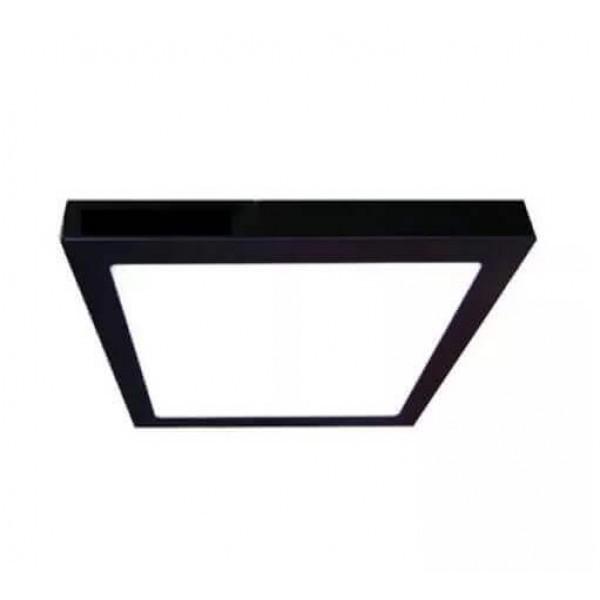 Luminária LED Sobrepor Quadrada 24w Preta  - Giamar