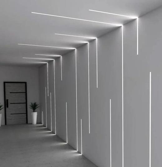 PERFIL LED EMBUTIR 65MM - 40W POR METRO - *PRONTO PARA INSTALAR  - Giamar
