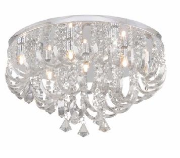Plafon Hevvy Arcos de Cristal 7 Lampadas  93779 C7  - Giamar