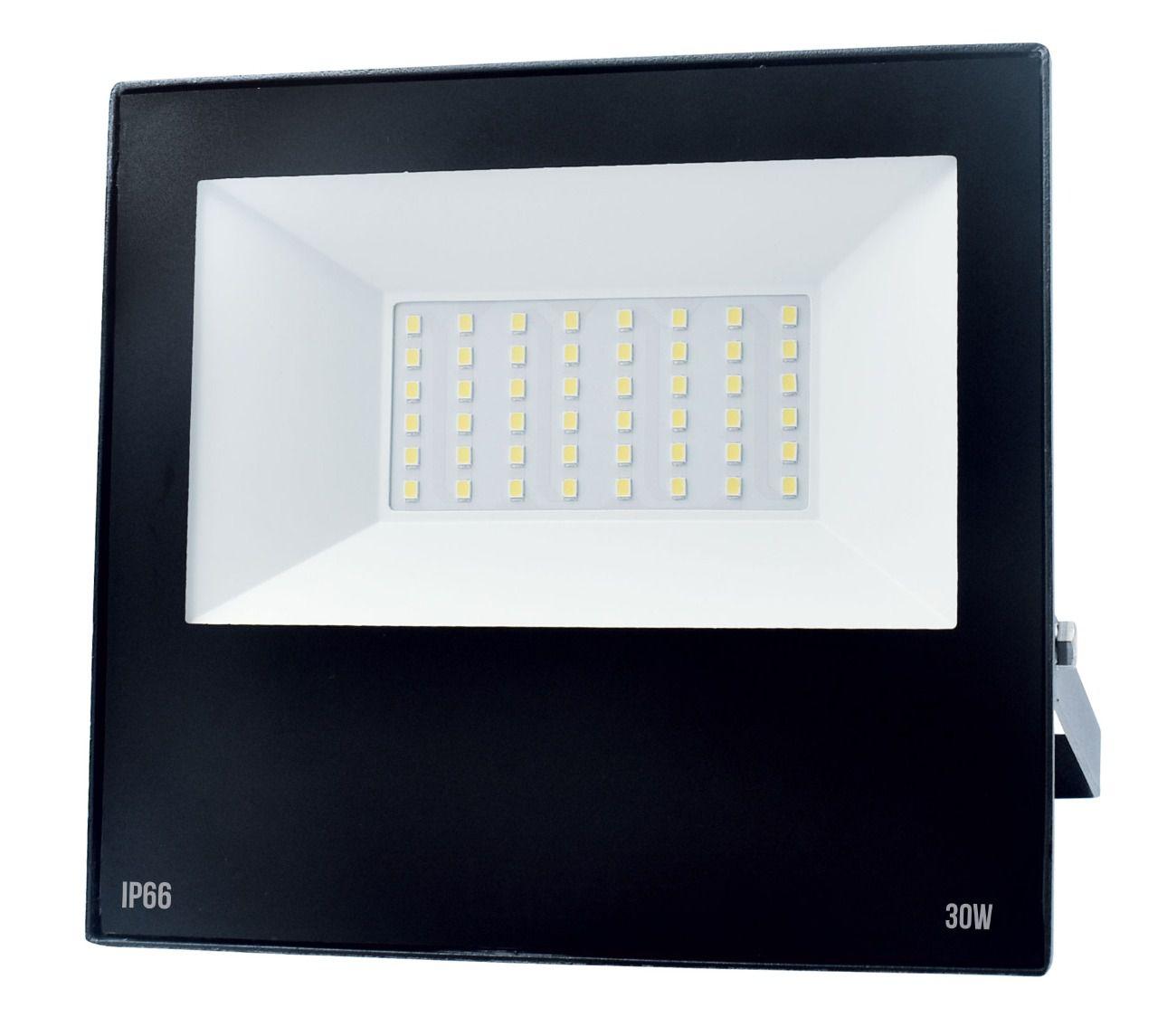 Refletor LED Slim 30W Preto  - Giamar
