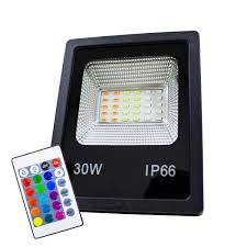 Refletor LED RGB  30w C/ Controle Remoto  - Giamar