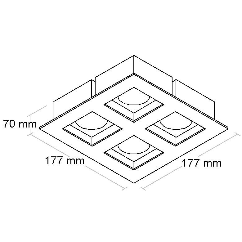 SPOT EMB PARA 4 LAMP MR16 - BL1021/4 - BELLALUCE  - Giamar