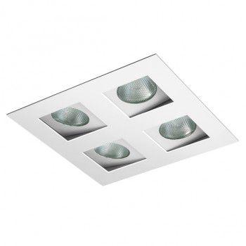Spot Embutir AR70 P/ 4 Lampadas BL1022/4  - Giamar