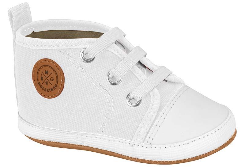 Tênis Baby Molekinho- Sola do sapatinho todo branco
