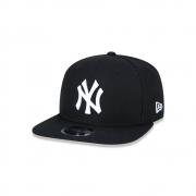 BONÉ NEW ERA ABA RETA 9FIFTY MLB NEW YORK YANKEES PRETO