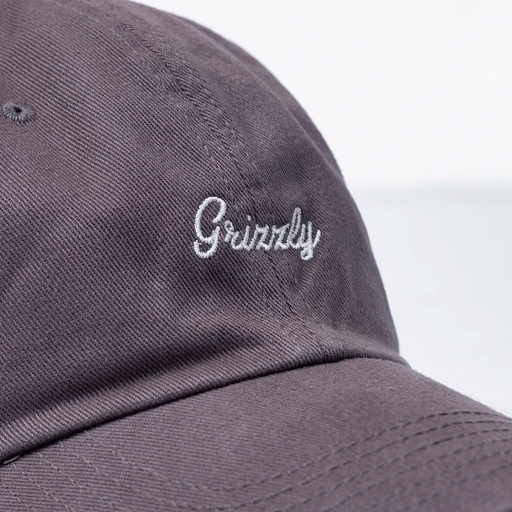 BONÉ GRIZZLY ORIGINAL ABA CURVA LATE TO THE GAME CINZA