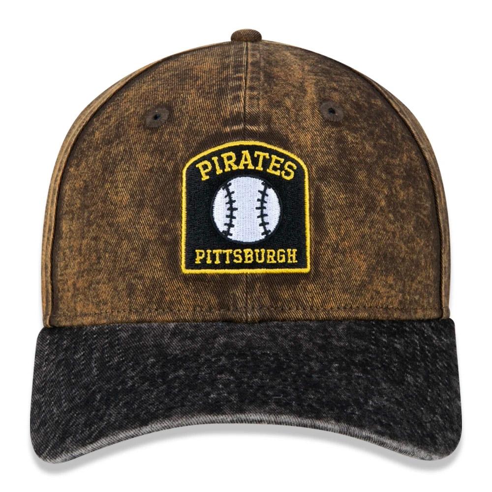 BONÉ NEW ERA ABA CURVA 9TWENTY MLB PITTSBURGH PIRATES MARROM