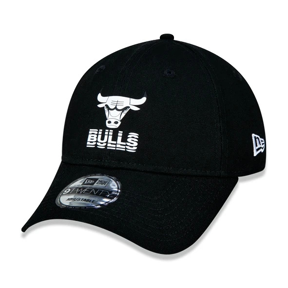BONÉ NEW ERA ABA CURVA 9TWENTY NBA CHICAGO BULLS URBAN PRETO
