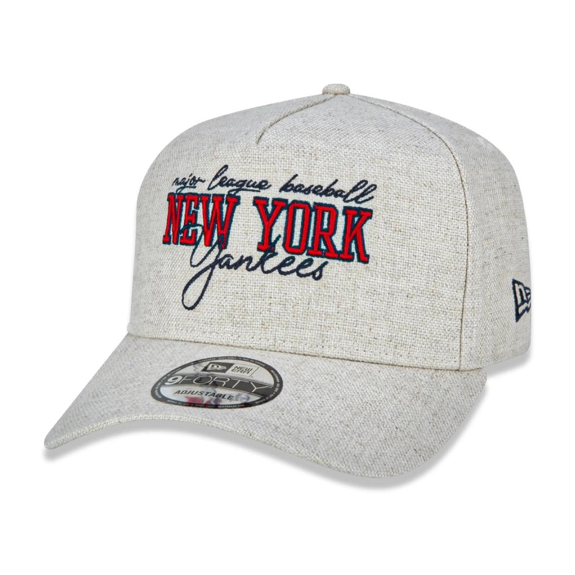 BONÉ NEW ERA ABA CURVA A-FRAME NEW YORK YANKEES OFF WHITE