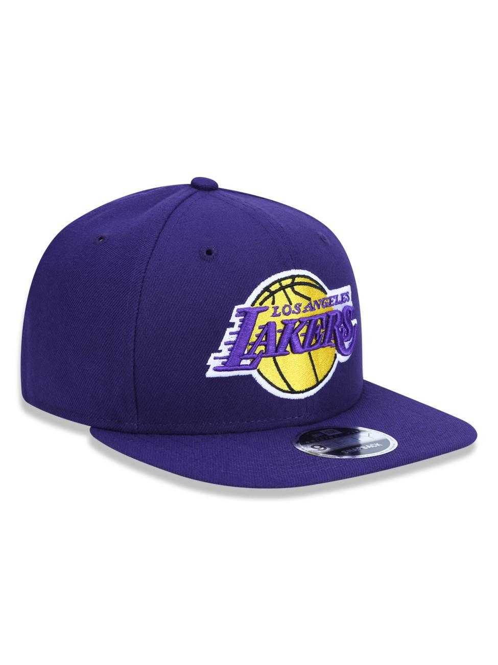 BONÉ NEW ERA ABA RETA ORIGINAL FIT NBA LOS ANGELES LAKERS