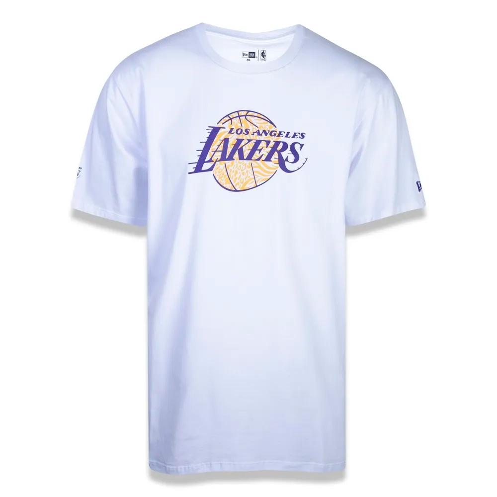 CAMISETA NEW ERA MASCULINA PLUS SIZE NBA LOS ANGELES LAKERS