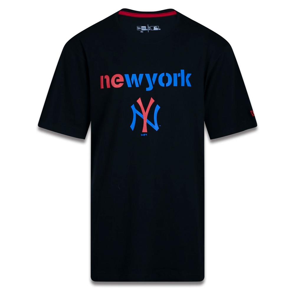 CAMISETA NEW ERA MASCULINA PLUS SIZE NEW YORK YANKEES PRETO