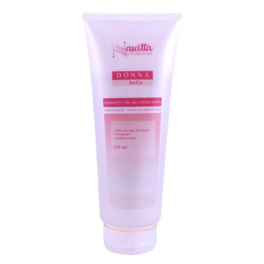 Sabonete em gel esfoliante para o rosto Bella - Donna - 250ml