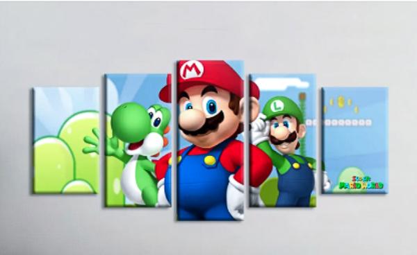 Quadro Mosaico Super Mario