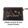 CAIXA DE MUSICA HARRY POTTER PRETA COLEÇÃO GEEK HARRY POTTER