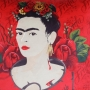 CAPA ALMOFADA FACE AND RED ROSES FRIDA