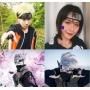 Kit Anime Fã Naruto Bandana Aldeia da Folha e Caixa de Música  Manivela