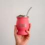 Kit Cuia Térmica Guayra + Bomba + Blend de Erva Mate Jaci Y iara
