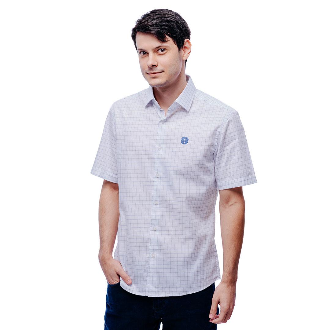Camisa Social Masculina Lavagno