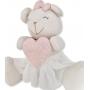 Ursa Lia carinhosa com coração