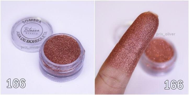 Bitarra Beauty COR 166 Rosê fino Sombra Asa de Borboleta (Pigmento / Glitter)