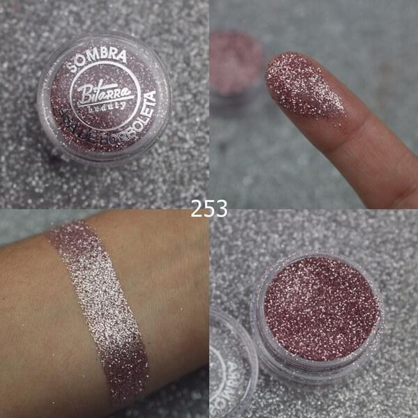 Bitarra Beauty COR 253 Rosa / GL 36 Sombra Asa de Borboleta (Pigmento / Glitter)