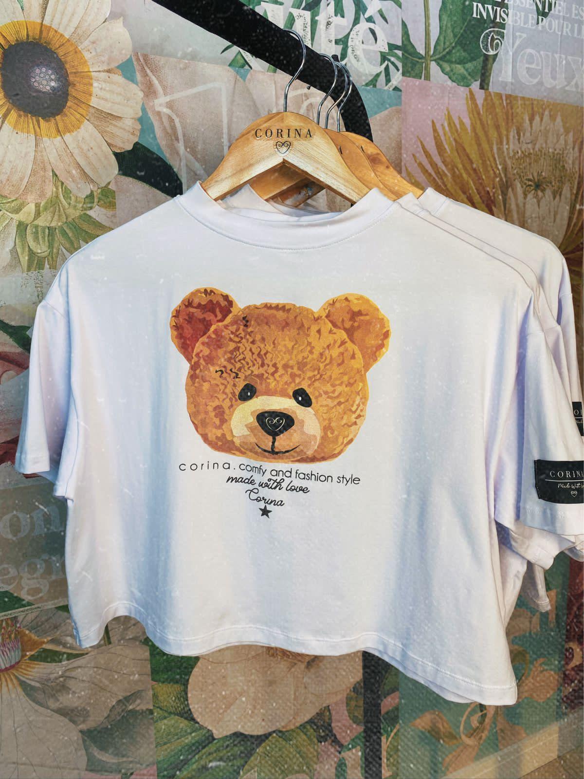 Corina Cropped Algodão Urso