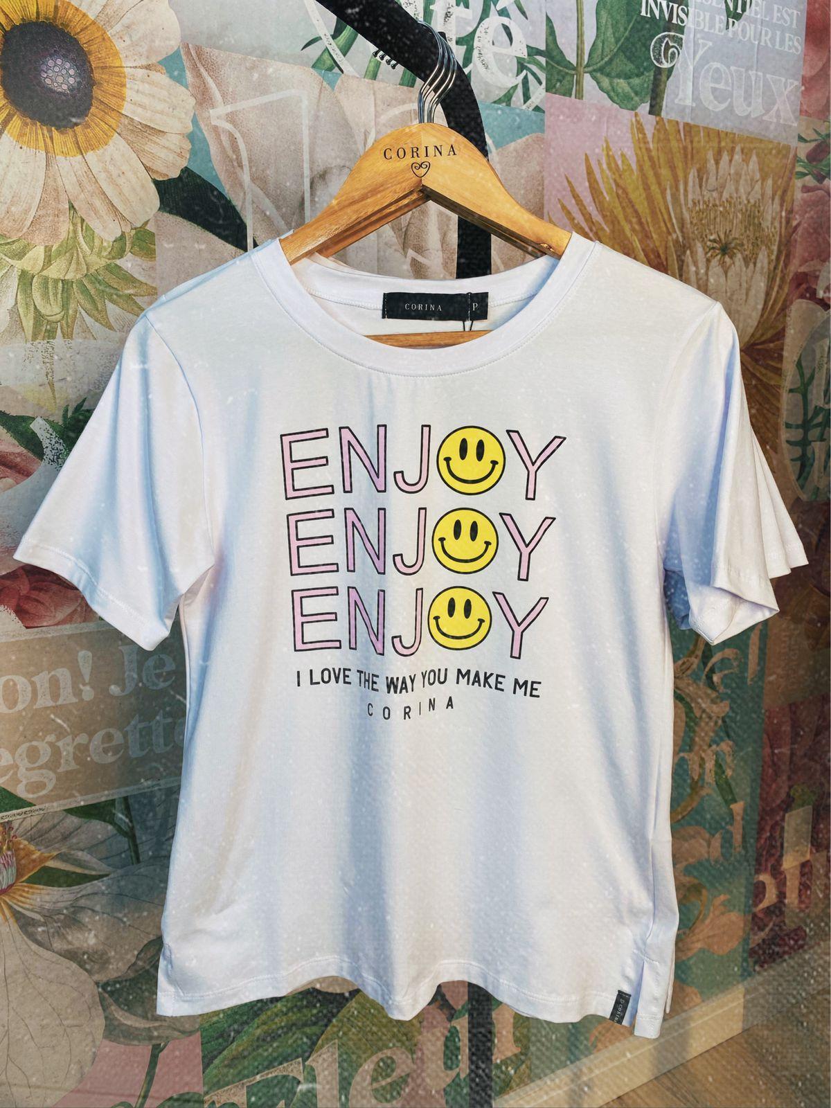 Corina T-Shirt Algodão - Enjoy