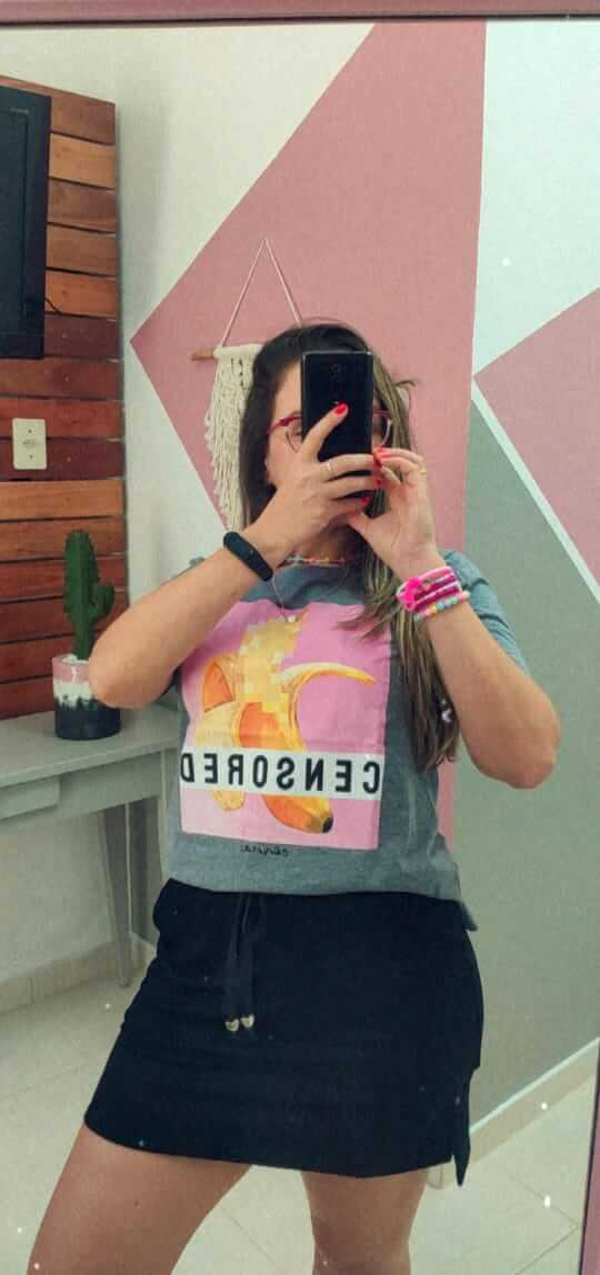 Corina T-Shirt Censored Banana - Mescla