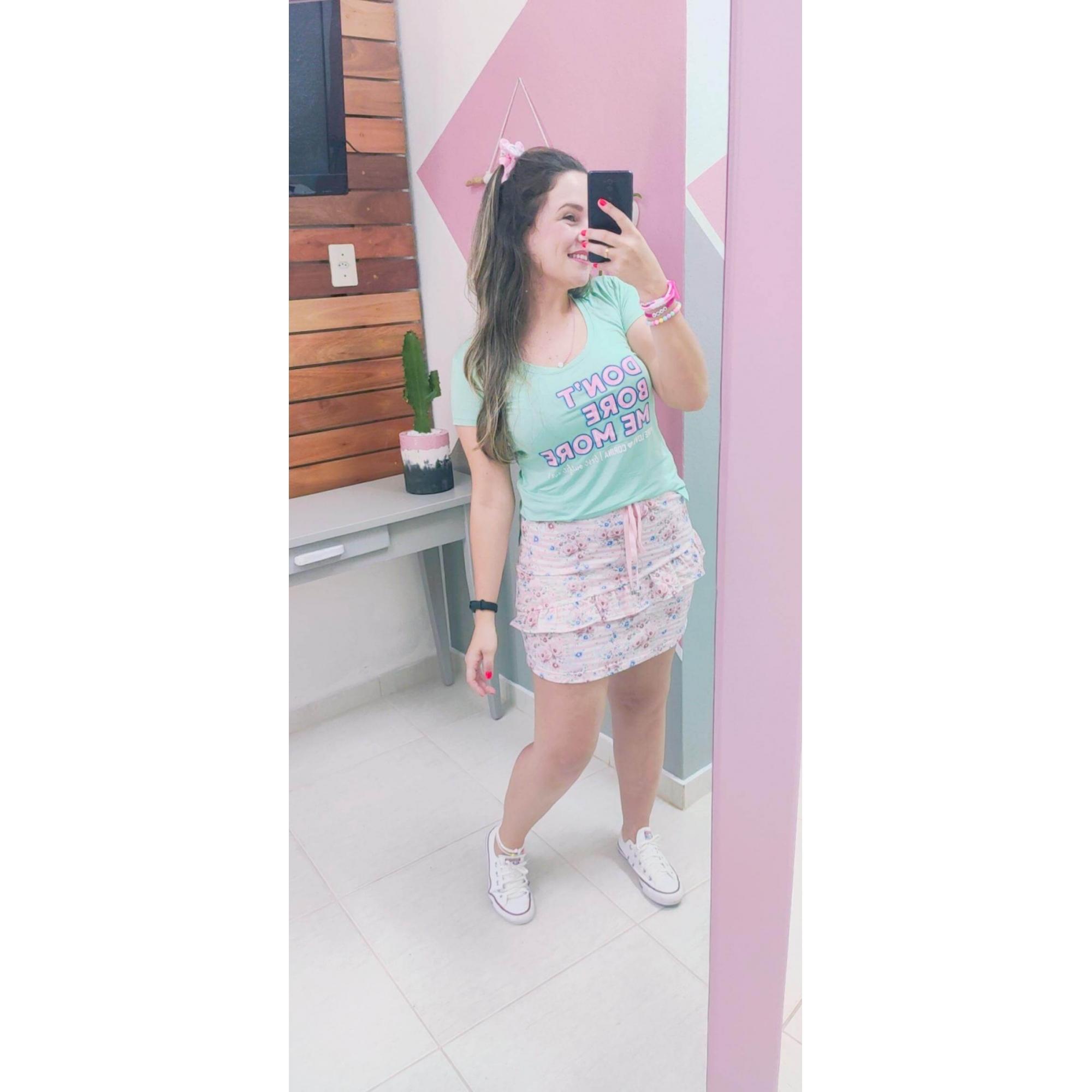 Corina T-Shirt Estampada Candy Color - Verde Candy - TAMANHO M