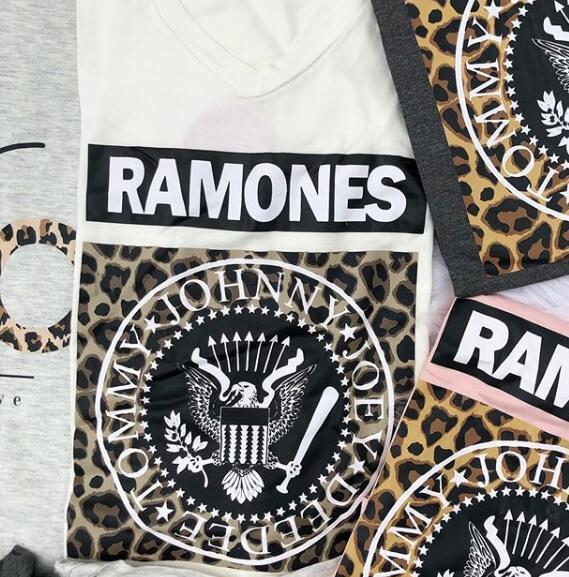 Corina T-Shirt Manga Longa Ramones - Off White