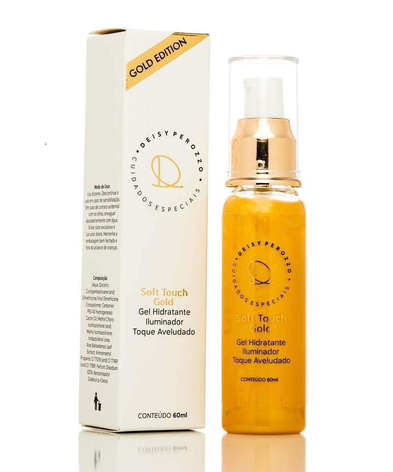 Deisy Perozzo Gel Hidratante Soft Touch Gold - com partículas douradas