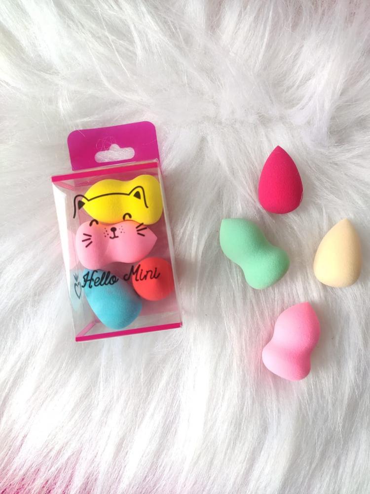 Hello Mini kit com 4 Mini Esponjas de Maquiagem