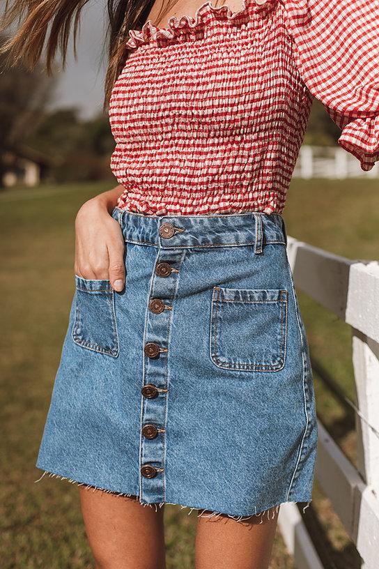In Love Saia Jeans Sunkisses