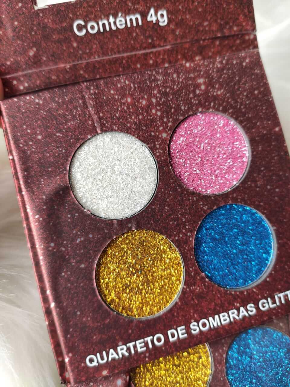Ludurana Paleta de Sombras Matte Quarteto Glitter